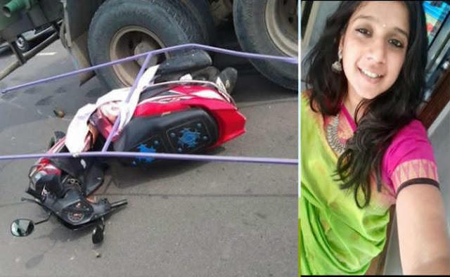 पार्टी का होर्डिंग गिरने के बाद टैंकर से कुचल कर युवती की मौत - newsonfloor.com
