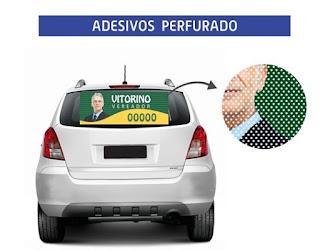 ADESIVO PERFURADO POLITICO