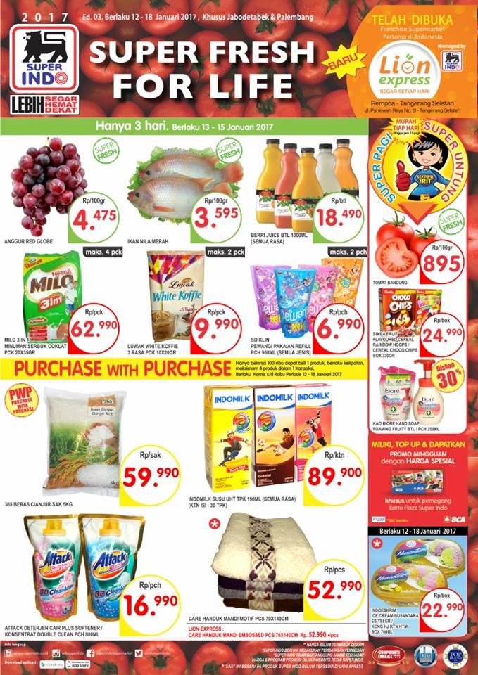 Katalog Harga Promo Superindo Super Hemat 12 – 18 Januari 2017