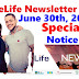 OneLife Newsletter, June 30th, 2020