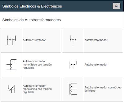 Símbolos de Autotransformadores
