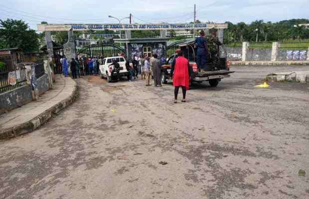 Federal College of Animal Health students protest over cults' attacks, extortion in Ibadan
