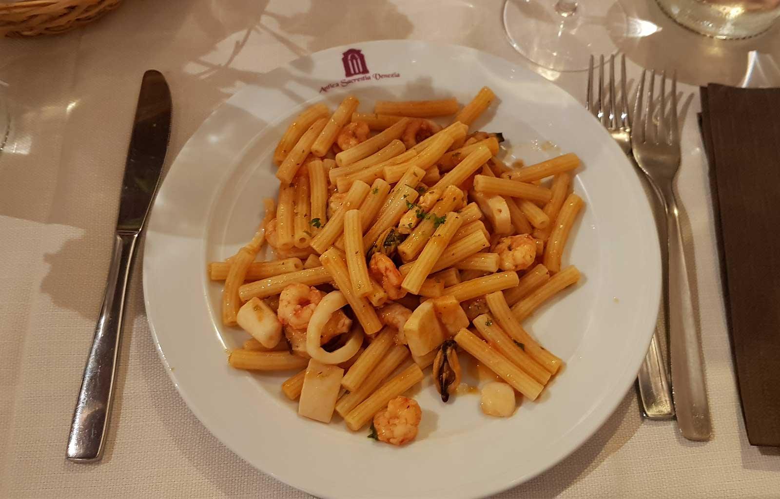 voyage italie venise repas restaurant antica sacrestia