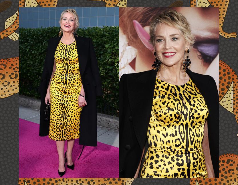 Sharon Stone y cómo llevar el estampado de leopardo de manera elegante