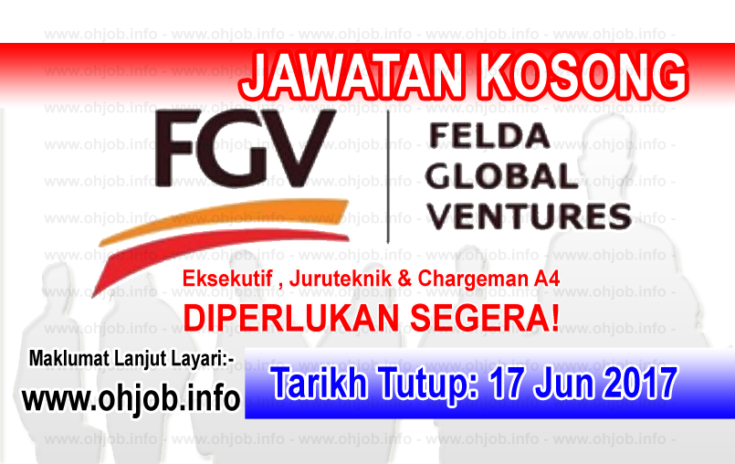 Jawatan Kerja Kosong FGV - Felda Global Venture logo www.ohjob.info jun 2017