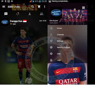 Kumpulan BBM Mod Thema Klub Sepak Bola Versi Apk