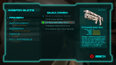 The UI for weapon equipment