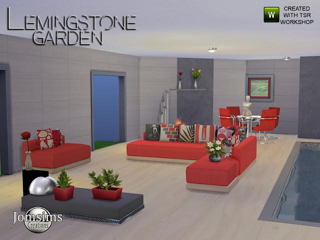 Lemingstone Modern Garden Lemingstone Сад для The Sims 4 Современный сад с нормальным диванчиком. 1 оттоманка. Выглядит как кресло, которое я специально создал, чтобы создать угловой диван. 1 тахта нормальная. 8 подушек для детского сиденья, оттоманое детское сиденье. Найдено в рубрике RUG. 1 журнальный столик. 1 обеденный стул металлический и цветной. 1 обеденный стол 1 фактурная металлическая обработка. 2 подушки для нормальной оттоманки. Найдено в рубрике RUG. Подарите своим симам, а почему бы и не крытому бассейну очень современный и расслабляющий вид. Все объекты проверены и в игре. Автор: jomsims