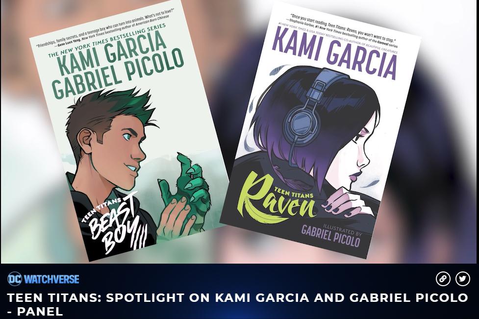 Printscreen mostrando as capas das produções feitas por Kami Garcia e Gabriel Picolo