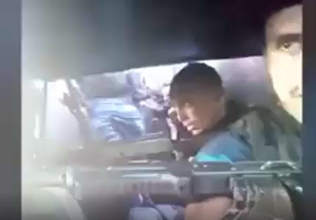 """VIDEO.- Sicarios del """"CDG"""" se graban al interior de """"Monstruo"""" blindado en la guerra contra el """"CDN"""""""