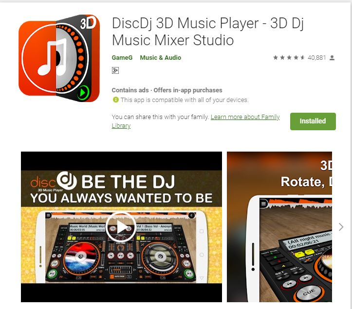 Loud Oli Tech: DiscDj 3D Music Player - 3D Dj Music Mixer