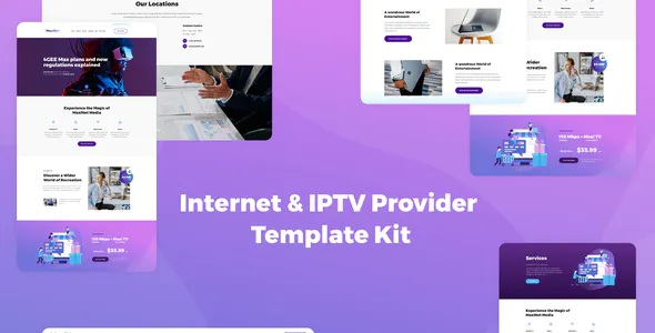 Best Internet & IPTV Provider Elementor Template Kit