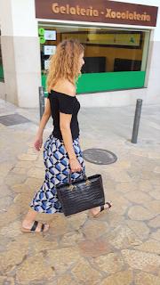 Falda larga estampada verano