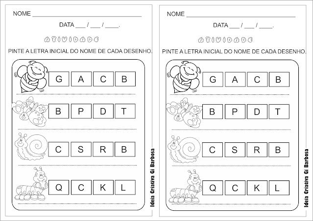 Atividade linguagem para imprimir