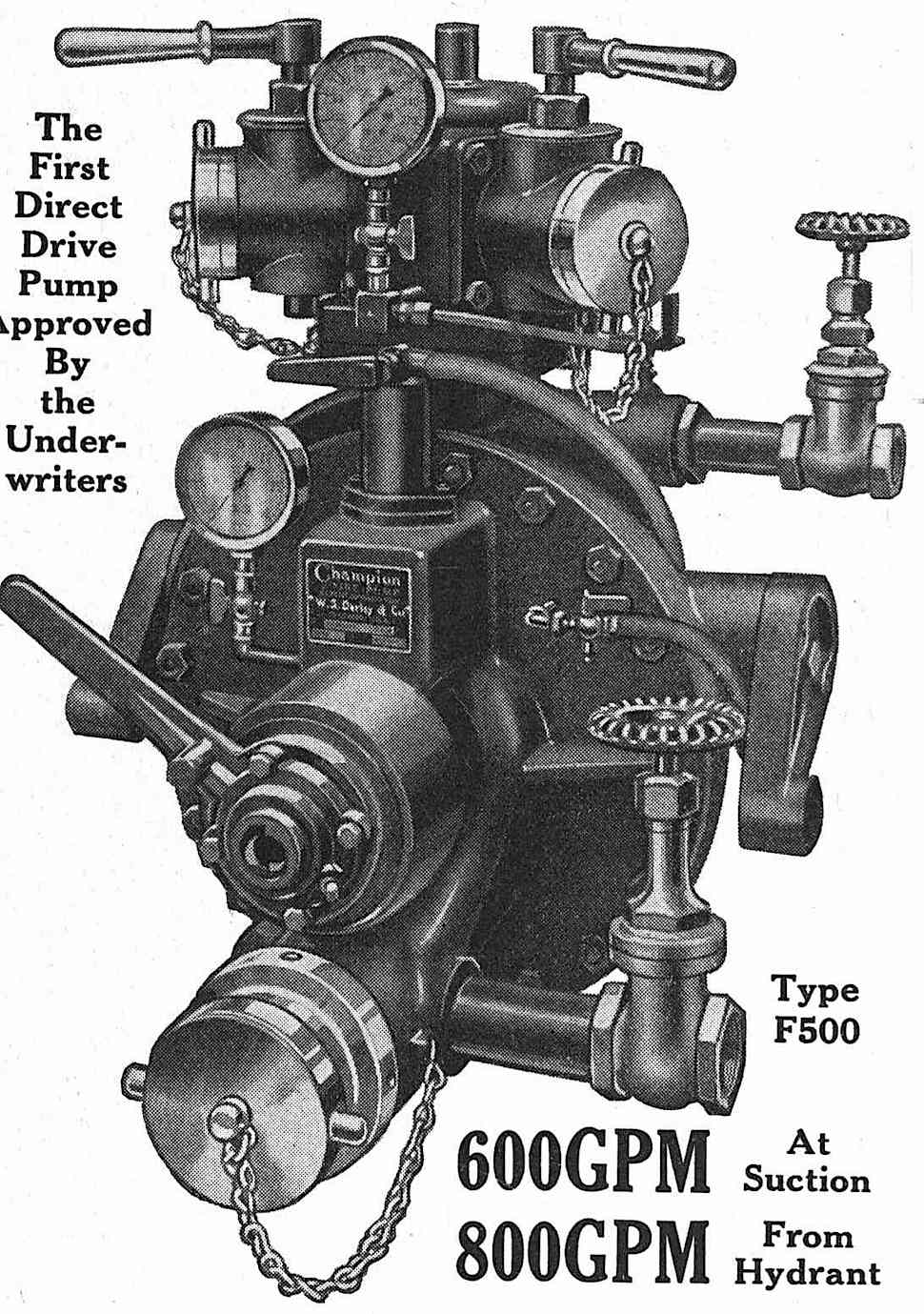 a 1939 direct drive hydrant pump illustrated