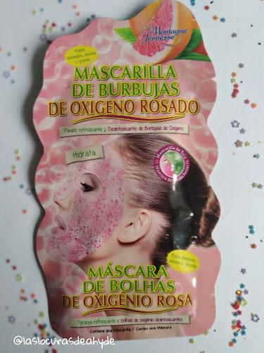 mascarilla de oxigeno rosa