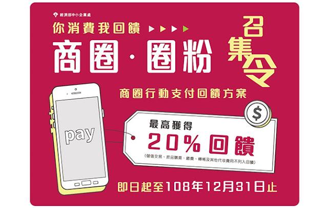 10/7起商圈行動支付享回饋 最高20%