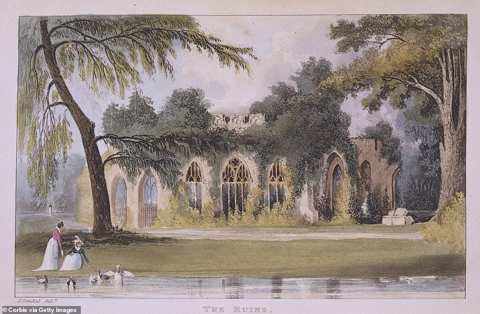 A 19th-Century Print of Frogmore House in Windsor, England