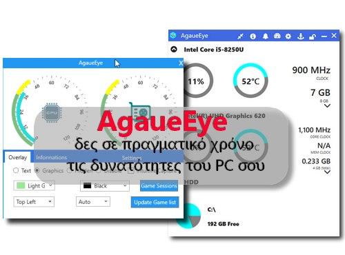 AgaueEye - Δες τα FPS και την κατανάλωση RAM ενώ παίζεις παιχνίδια