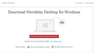 Download mendeley untuk Windows, Download mendeley