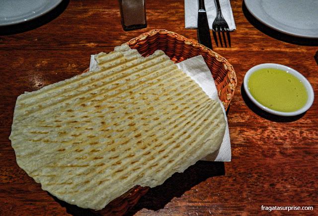 Piadina servida no restaurante Bodega de la Trattoria, Lima, Peru