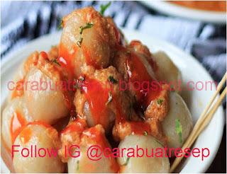 Foto Resep Cilok Sayur Kuah Kacang Sederhana Spesial Lembut dan Empuk Asli Enak