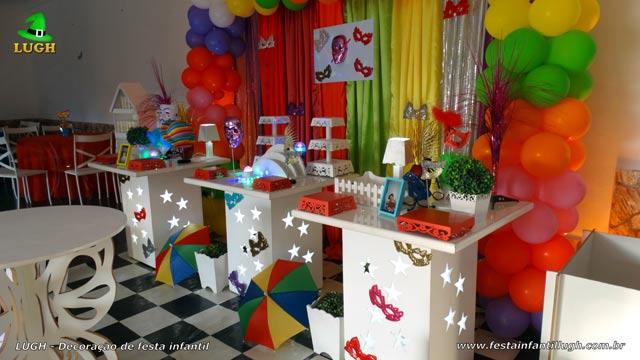 Decoração de festa infantil tema Carnaval - Aniversário