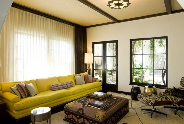 15 fotos de salas en verde y marr n salas con estilo for Sala de estar marron