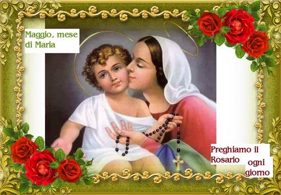 Santo Rosario continuo, di 24 ore, 1º Maggio, Maggio mese dedicato a Maria Santissima