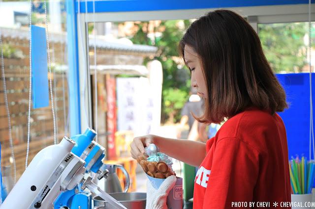 IMG 0304 - 一中商圈│藍箱處Blue Box-分子冰淇淋雞蛋仔*少女心的清爽夢幻逸品。隱身在巷弄間的IG打卡新景點