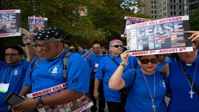 EEUU: Activistas marchan en Baltimore contra violencia armada