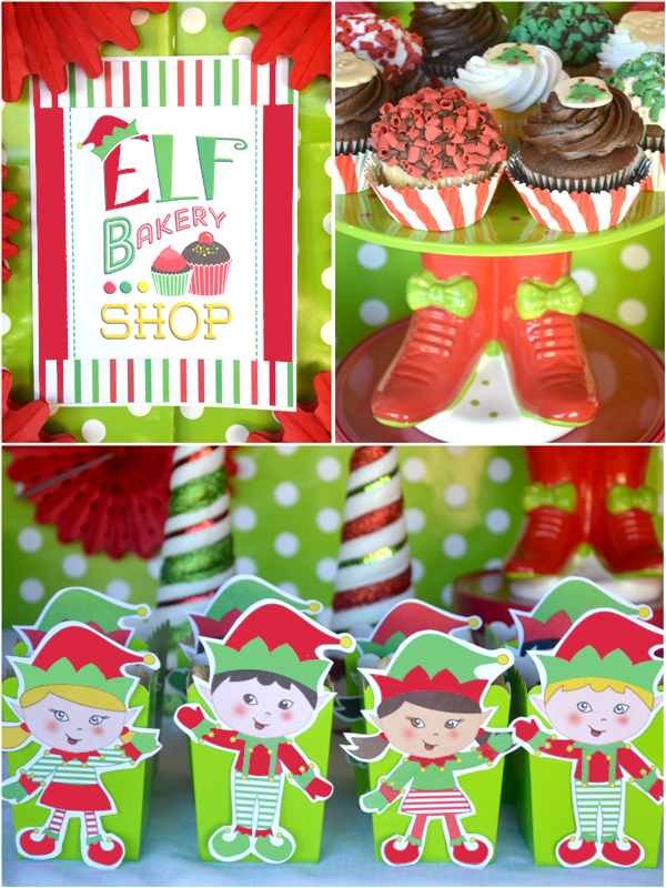 An Elf Cookie Decorating Holiday Kids Party - via BirdsParty.com