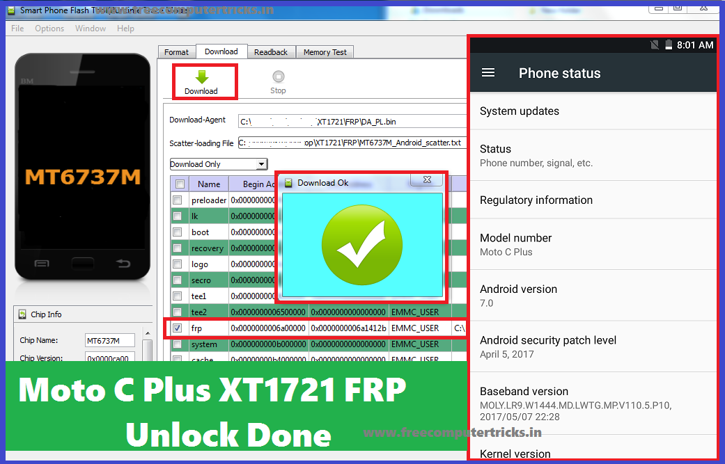 Solved] Moto C Plus XT1721 FRP Unlock Android 7 0 - Free