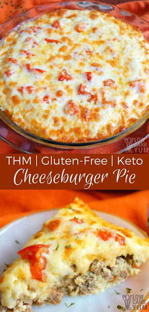 KETO LOW CARB CHEESEBURGER PIE