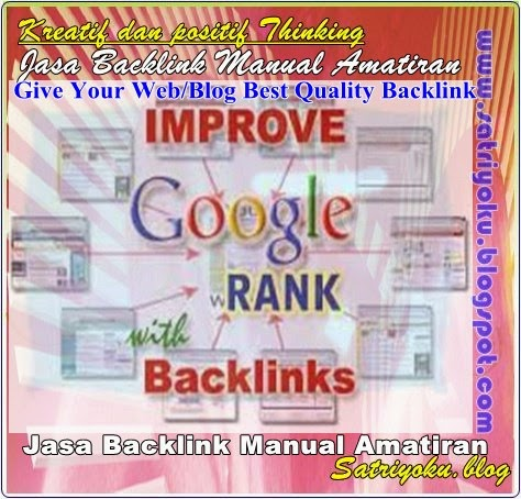 Jasa Backlink Manual Murah Amatiran 2015