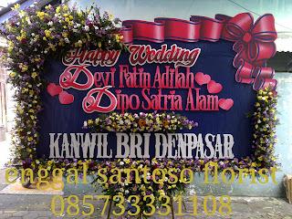 bunga papan pernikahan kanwil BRI Denpasar