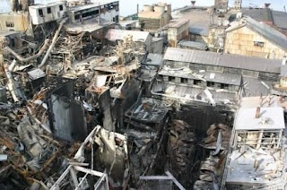 Ledakan akibat dari campuran eksplosif (bahan oksidator dan reduktor) limbah B3 di Amerika Tahun 2008