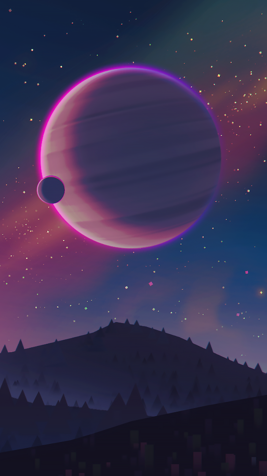 #space #wallpaper #illustration #planet