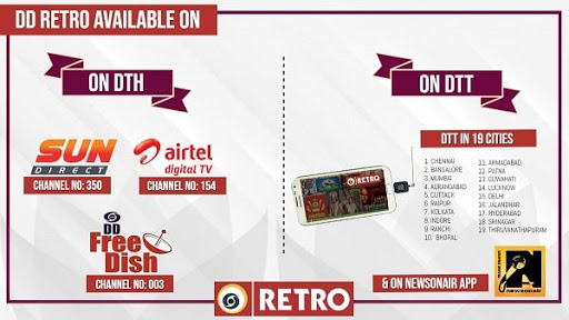 Watch DD Retro on Mobile, DD Retro in Digital Services, Doordarshan DTT, DD Retro Watch Live
