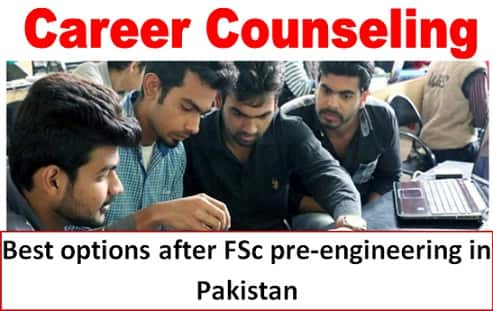 Best fields and study options after fsc pre engineering in Pakistan