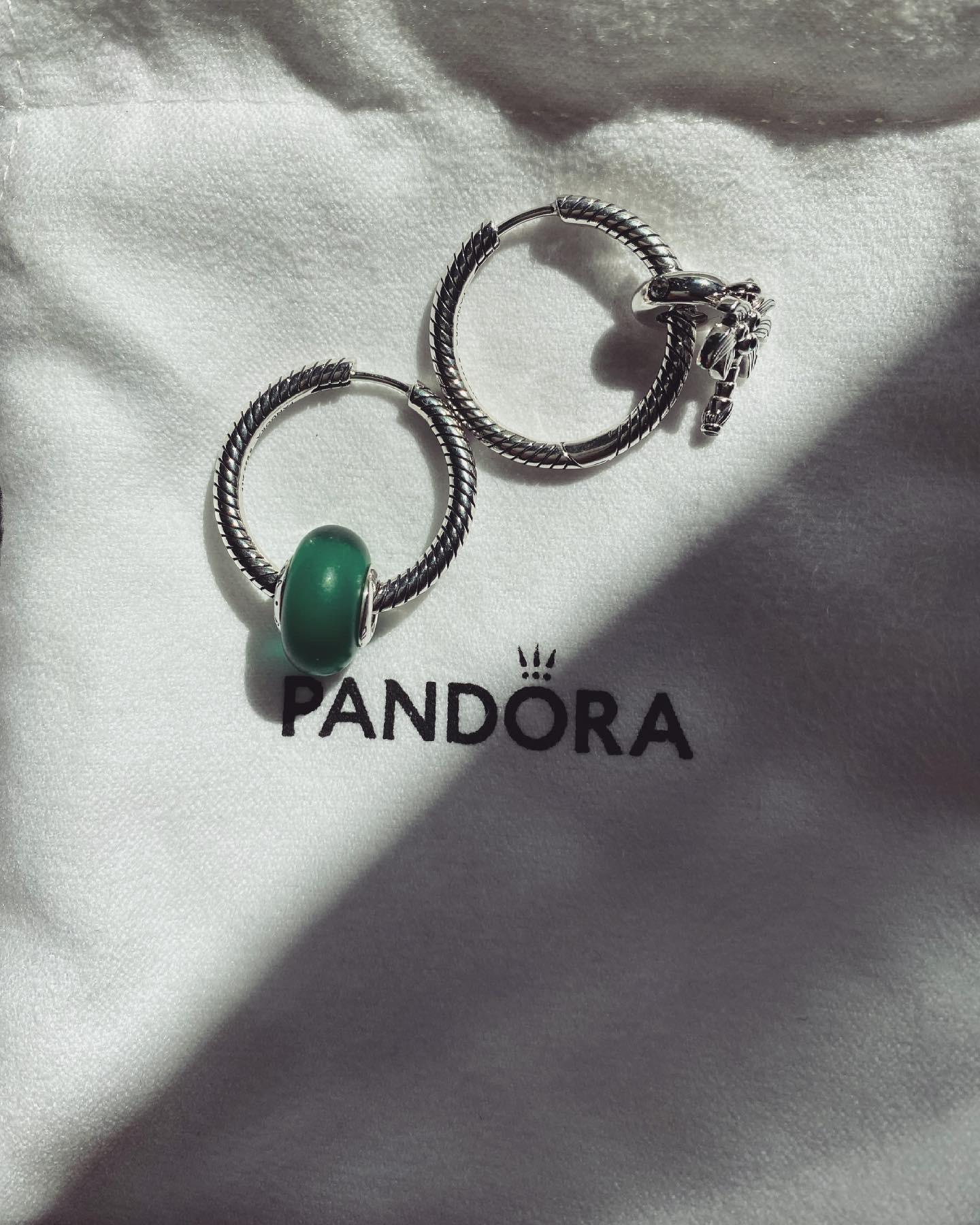 Pandora Moments Charm Hoop Earring