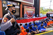 OPS Pekat Semeru Di Bojonegoro Amankan 3.800 Liter Miras Dan 188 Tersangka