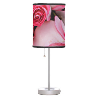 Pink roses lamp