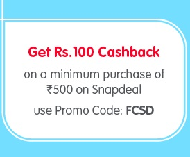 Get Rs.100 Freecharge Cashback on Minimum Purchase of Rs.500 @  Snapdeal  (Hurry!!! Giving more than Rs.100)