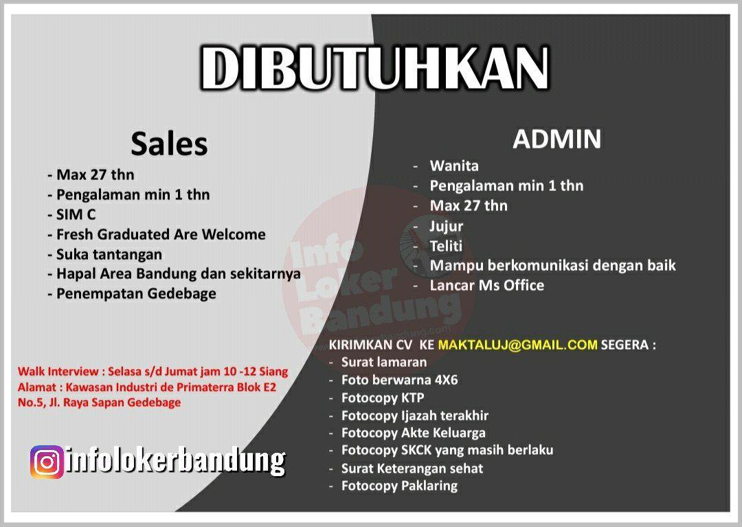 Lowongan Kerja PT. Maktal Distribusi Pratama Bandung Oktober 2019