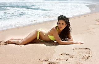 sunny leone on beach