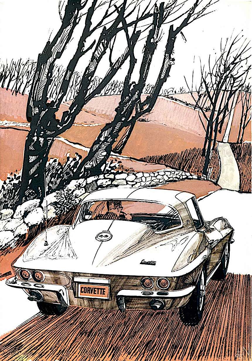 1967 Corvette illustration