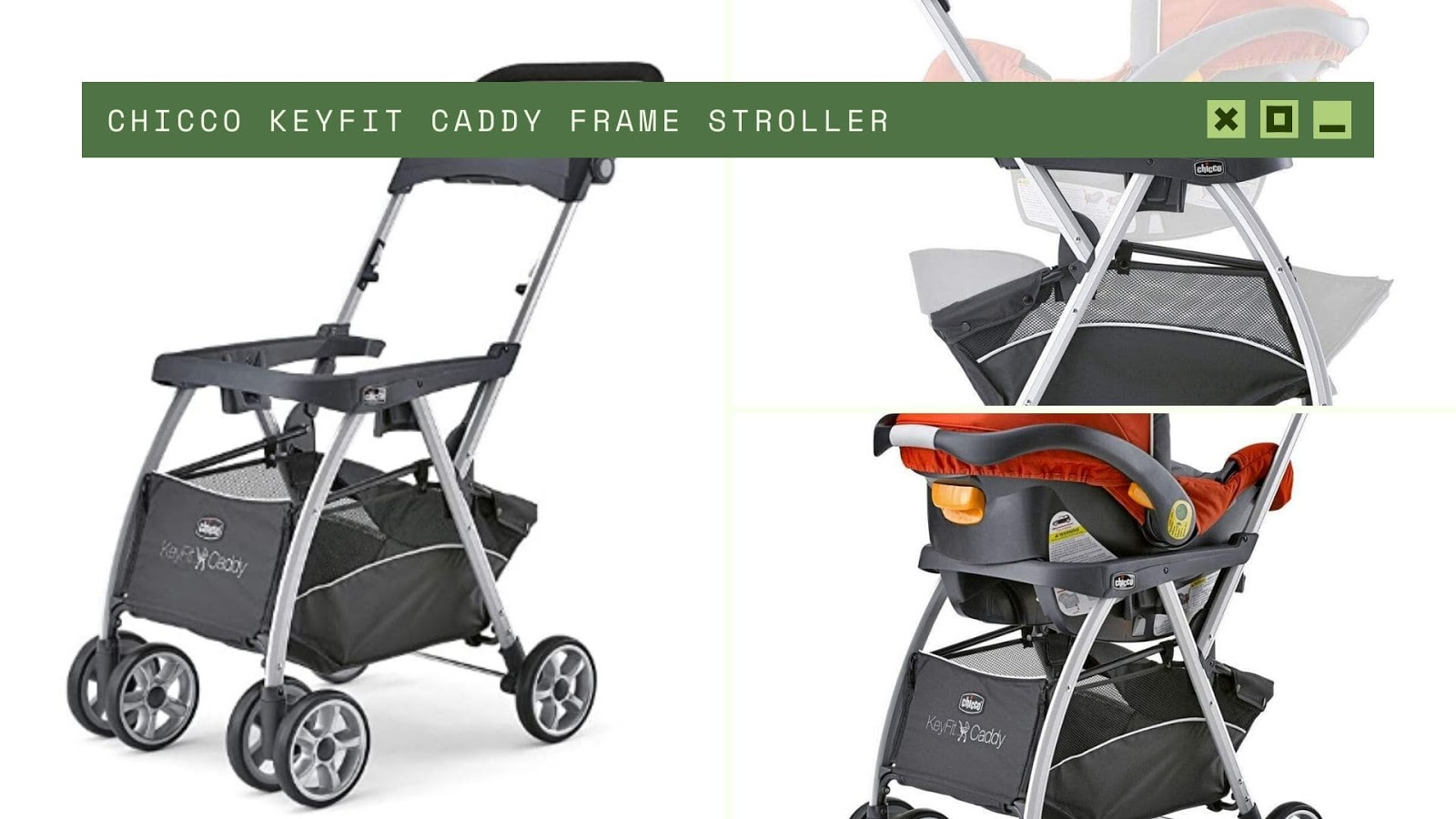 shopping for baby Chicco KeyFit Caddy Frame Stroller