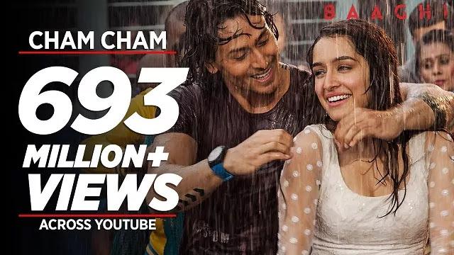 Cham Cham lyrics -BAAGHI -Shraddha Kapoor -Tiger Shroff