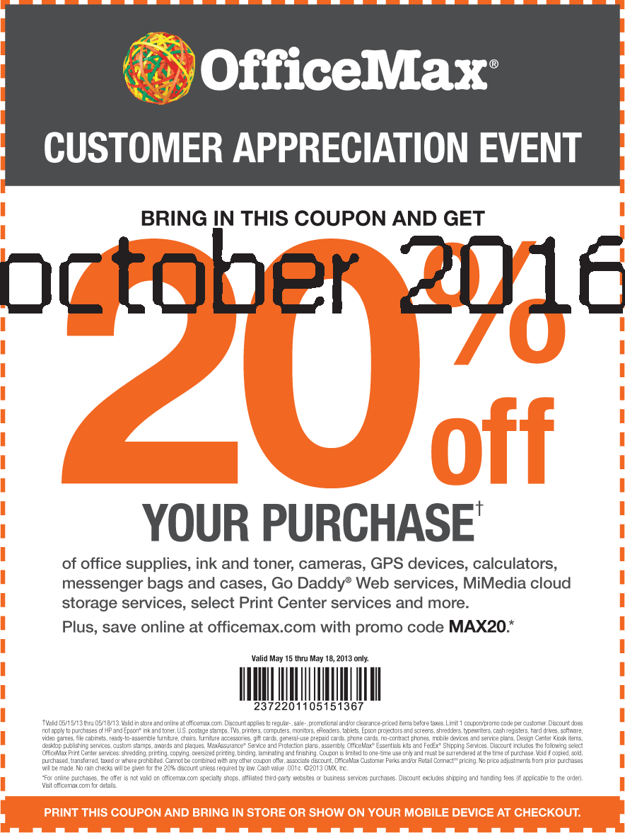 Office max coupons 2018 october